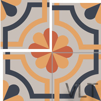Sicilian cement tile design
