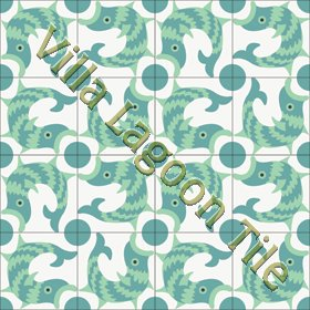 Cement tile with fish pattern