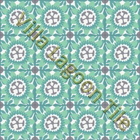 Passion Flower floral cement tile