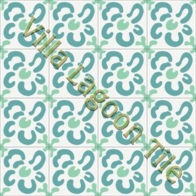 Wall Flower cement tile design