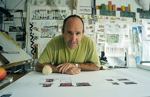 Shelton in his downtown studio.