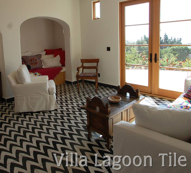 Jeff Shelton 39 S Leaf Zag Cement Tile Villa Lagoon Tile