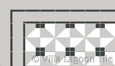 Cuban tile in three colors cement