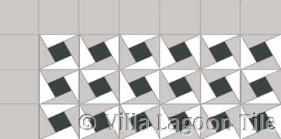 Geometric floor tile