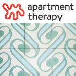 Apartment Therapy logo, with Surf Agua tile.