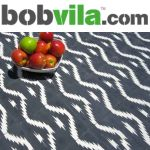 BobVila.com logo, and the VLT exclusive Ikat tile featured in their blog post.
