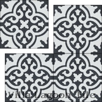 Traditional Bocassio cement tile from Original Mission Tile