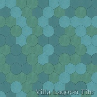 Roto Tile™, Random Aqua colors.