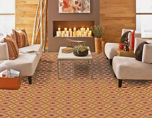 Omar Moroccan Cement Tile Living room