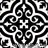 moorish black aand white tile