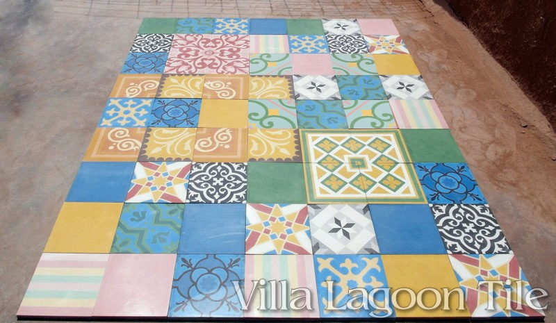 Patchwork tile designs for Europe