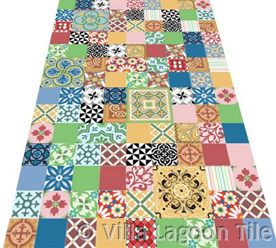 Patchwork Cement Tiles for Europe and Great Britain