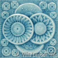 Light blue molded tile