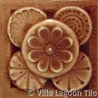 reddish brown glazed ceramic tile