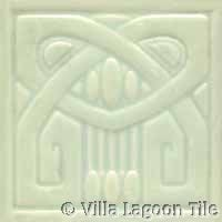 greenish ivory glazed relief ceramic tile