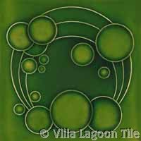 Deep rich green glazed ceramic tile