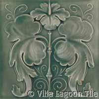 fancy grey floral relief ceramic tile glazed and crackle