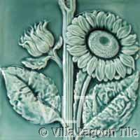 Sunflower relief tile