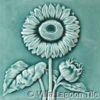 Sunflower antique tile