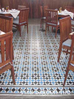 Cement Tile In Santo Mar Restaurant Villa Lagoon Tile
