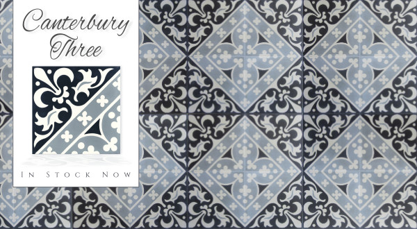In-stock Canterbury Three Cement Tile.