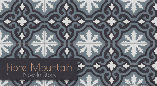 """Fiore C Mountain"" Cement Tile, from Villa Lagoon Tile"