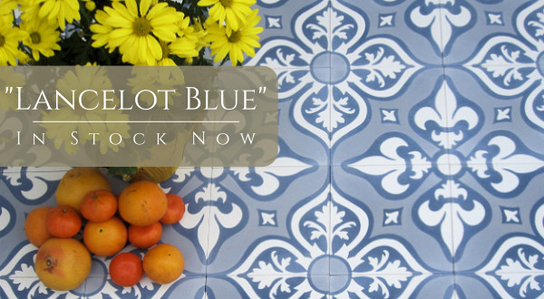 "In-Stock ""Lancelot Blue"" Cement Tile"