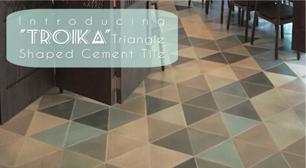 Troika, Custom Triangle Cement Tile