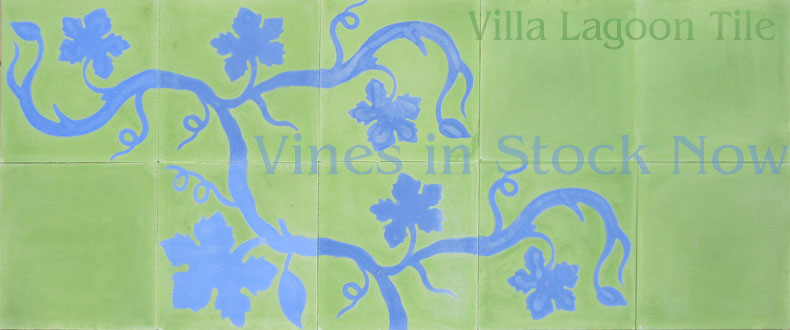 Grapevine tile designs
