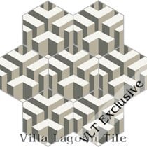 """Bailiwick"" Hex Cement Tile, from Villa Lagoon Tile"