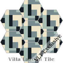 """Cornerstone"" Hex Cement Tile, from Villa Lagoon Tile"