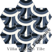 """El Centro"" Hex Cement Tile, from Villa Lagoon Tile"