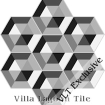 """Facets"" Hex Cement Tile, from Villa Lagoon Tile"