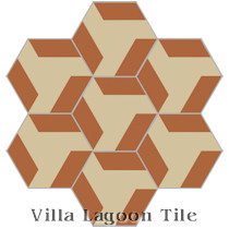 Hex Blades Cement Tile, from Villa Lagoon Tile