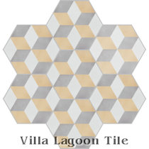 Hex Cubes Cement Tile, from Villa Lagoon Tile