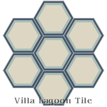 Hex Halo Two A Cement Tile, from Villa Lagoon Tile