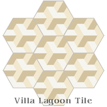 Hex Tern Cement Tile, from Villa Lagoon Tile