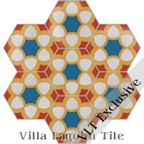 """Morena"" Hex Cement Tile, from Villa Lagoon Tile"
