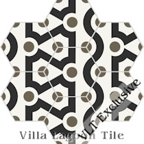 """New Beginning"" Hex Cement Tile, from Villa Lagoon Tile"