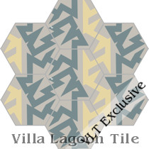 """No Way"" Hex Cement Tile, from Villa Lagoon Tile"