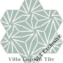 """Unspoken"" Hex Cement Tile, from Villa Lagoon Tile"