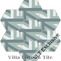 """Zanzibar"" Hex Cement Tile, from Villa Lagoon Tile"