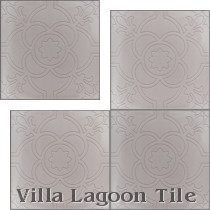 Cynthia Relief Cement Tile, from Villa Lagoon Tile