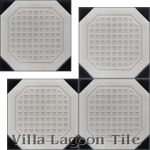 Octagon Waffle Relief Cement Tile, from Villa Lagoon Tile