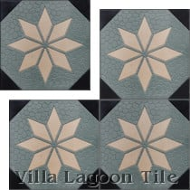 Star Field B Relief Cement Tile, from Villa Lagoon Tile