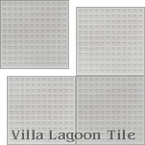 Waffle Relief Cement Tile, from Villa Lagoon Tile