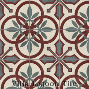"""Cuban Palm"" Relief Cement Tile, from Villa Lagoon Tile."