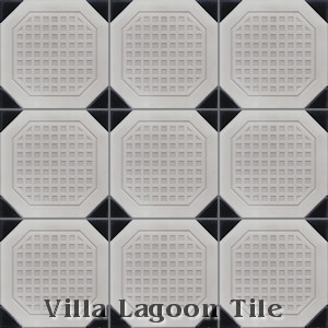 """Octagon Waffle"" Relief Cement Tile, from Villa Lagoon Tile."