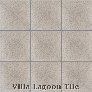 """Pebble on Point"" Relief Cement Tile, from Villa Lagoon Tile."