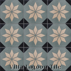 """Star Field B"" Relief Cement Tile, from Villa Lagoon Tile."